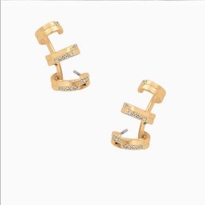 Stella & dot pave trio earring.